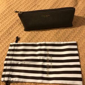 Chocolate brown - Jewelry bag. Cosmetics zipper.